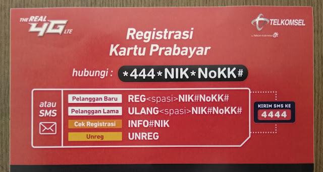 Cara Registrasi, Unreg dan Cek Status Kartu Telkomsel