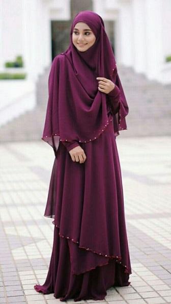 Model Kebaya Modern Syar'i Lengan Panjang Terbaru