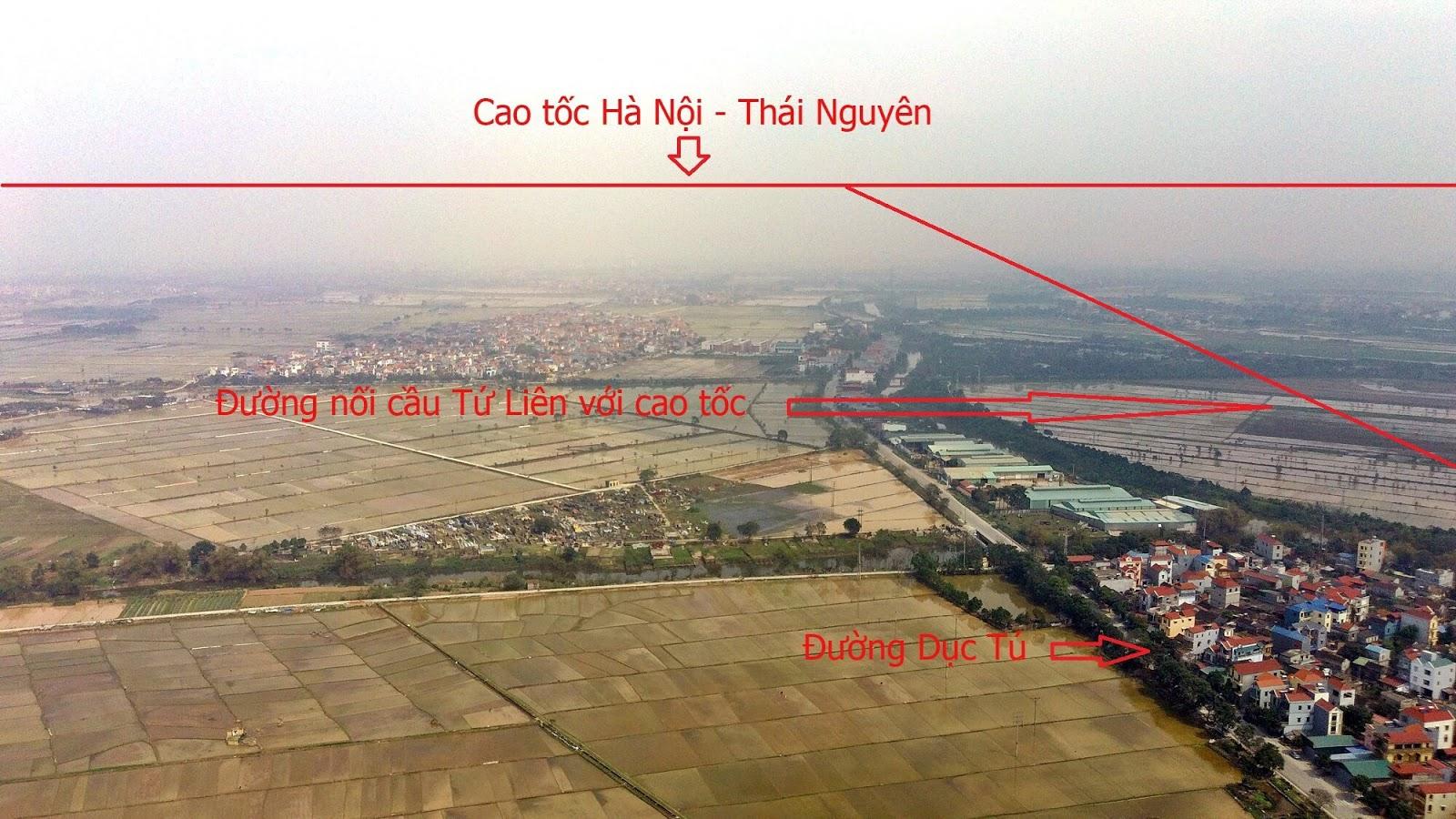Đoạn nối đường dẫn cầu Tứ Liên và cao tốc Hà Nội - Thái Nguyên nằm trên địa bàn xã Liên Hà, Đông Anh.