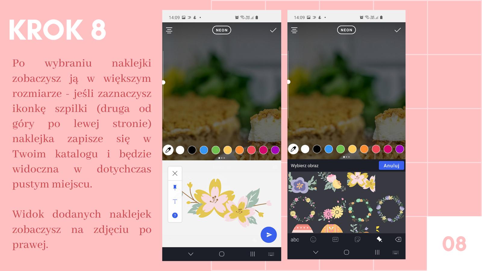 9 darmowe naklejki na instastories kwiaty wielkanoc jak zrobić swoją naklejkę na stories instagram jak wstawiać naklejki na instastory klawiatura swiftkey instrukcja krok po kroku