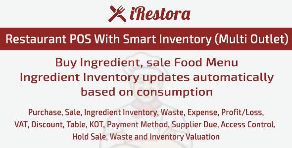 Restaurant POS amongst Smart Inventory Free Download iRestora – Restaurant POS amongst Smart Inventory Free Download