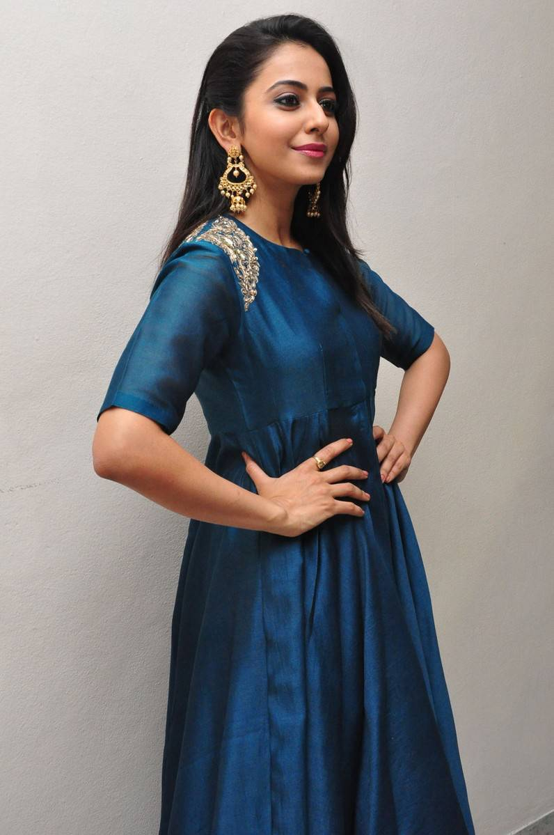Rakul Preet Singh In Blue Dress