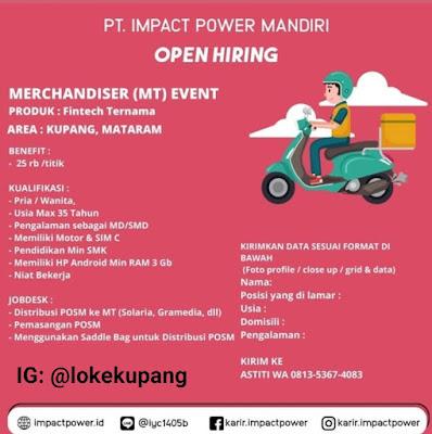 Lowongan Kerja PT Impact Power Mandiri Sebagai Merchandiser (MT) Event