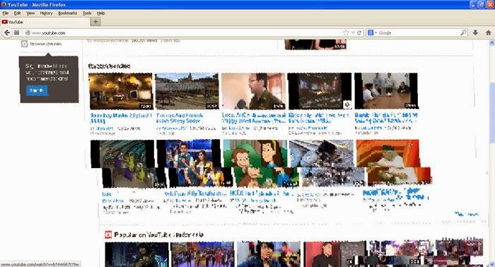 Tampilan Mozilla Firefox Blur dan Rusak