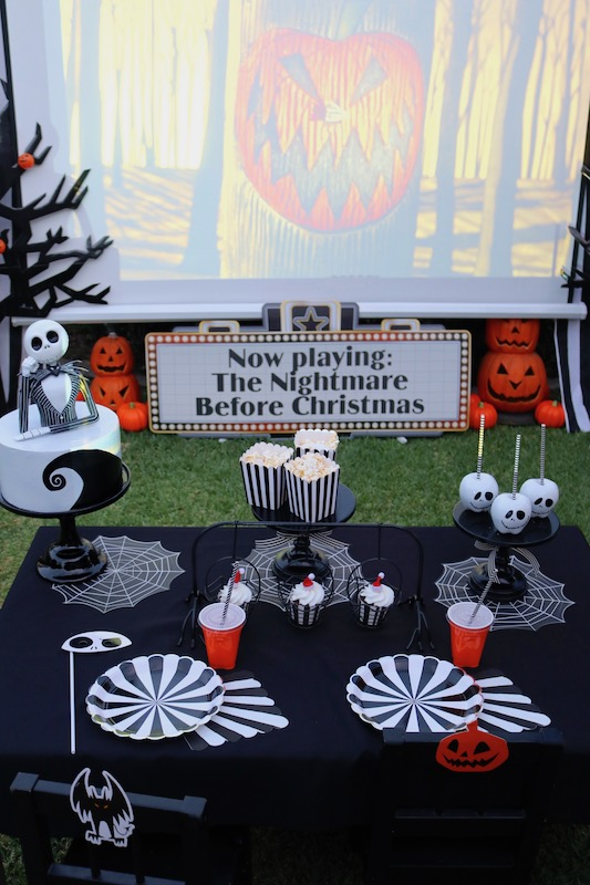 The Nightmare Before Christmas Outdoor Movie Night Lauras Little