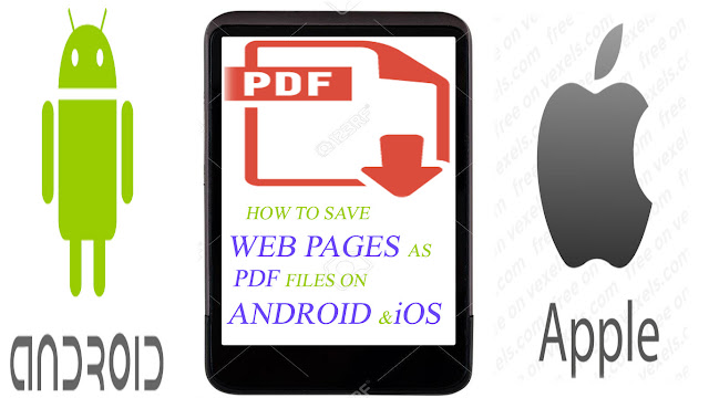 SAVE A WEB PAGE  AS PDF ON IPHONE OR ANDROID PHONE