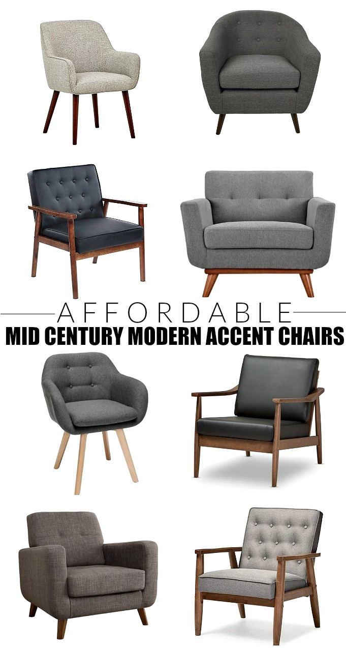 Budget-friendly mid century modern accent chairs