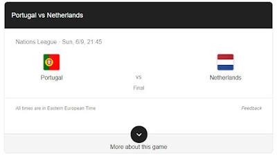 Portugalia – Olanda, finala Ligii Națiunilor , Duminica 09.06,2019