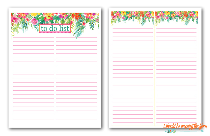 Summery To Do List