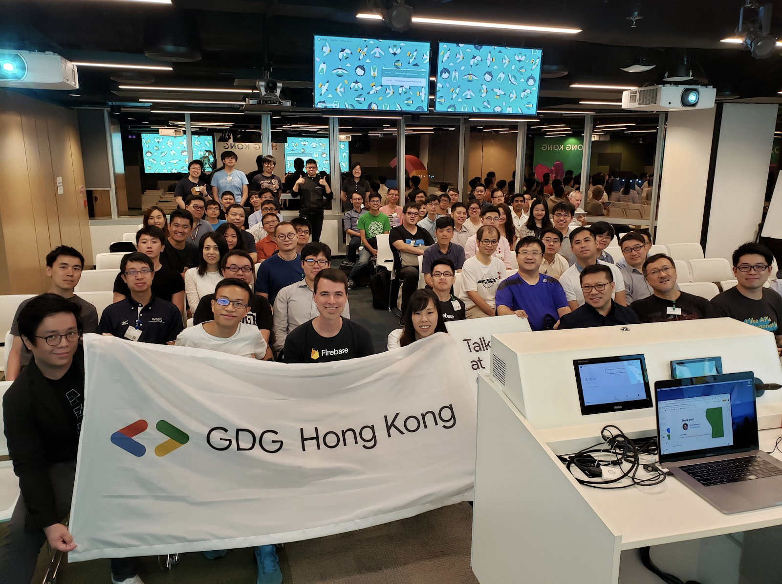image from GDG developer community meetup in Hong Kong