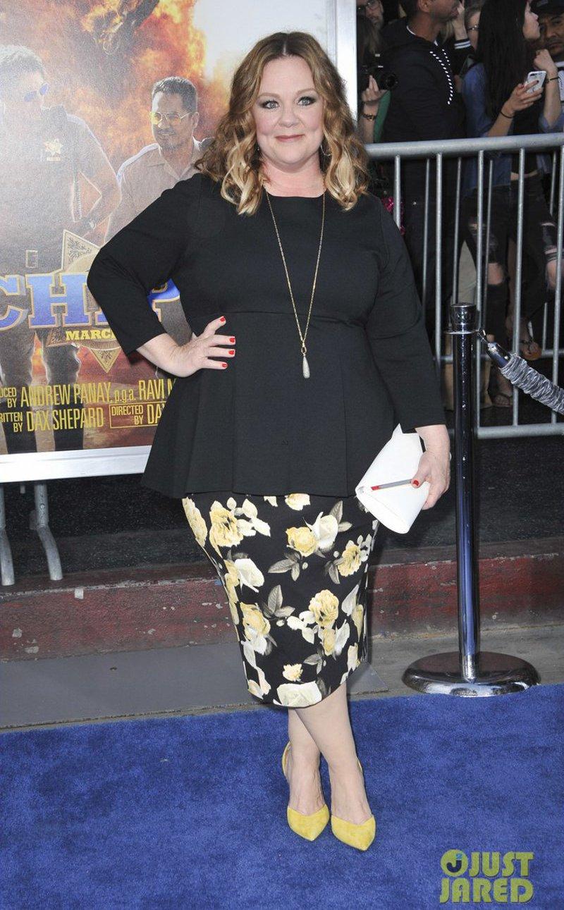 Looks da Melissa McCarthy para mulheres baixinhas gordinhas