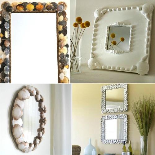 DIY Seashell Mirrors