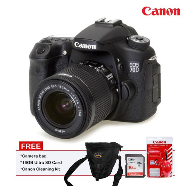 Canon EOS 70D With 18-55mm Stm Lens