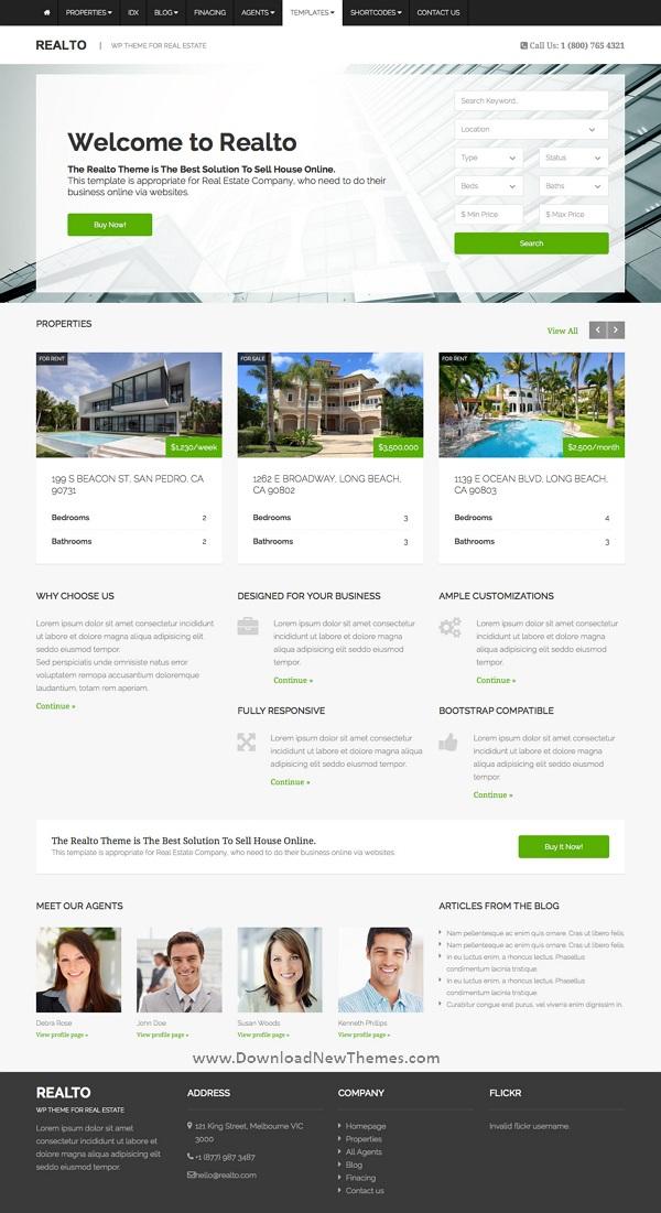 WordPress Theme for Real Estate