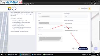 Ubah Email dan Nomor HP Profil DJP