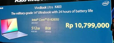 Harga ASUS VivoBook Ultra K403 dengan Intel Core i5