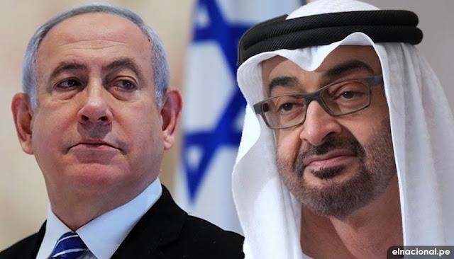 Presidente de Israel,Netanyahu y el líder de los EAU, Mohamed Bin Zayed: firman acuerdo de paz entre Israel y Emiratos Árabes Unidos