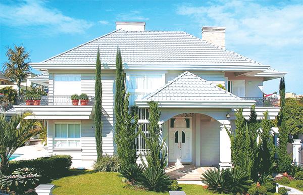 Construindo minha casa clean fachadas com ou sem telhado for Fotos de casas modernas com telhado aparente