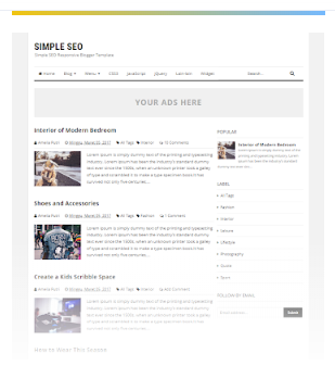 Simple SEO Free template blogger