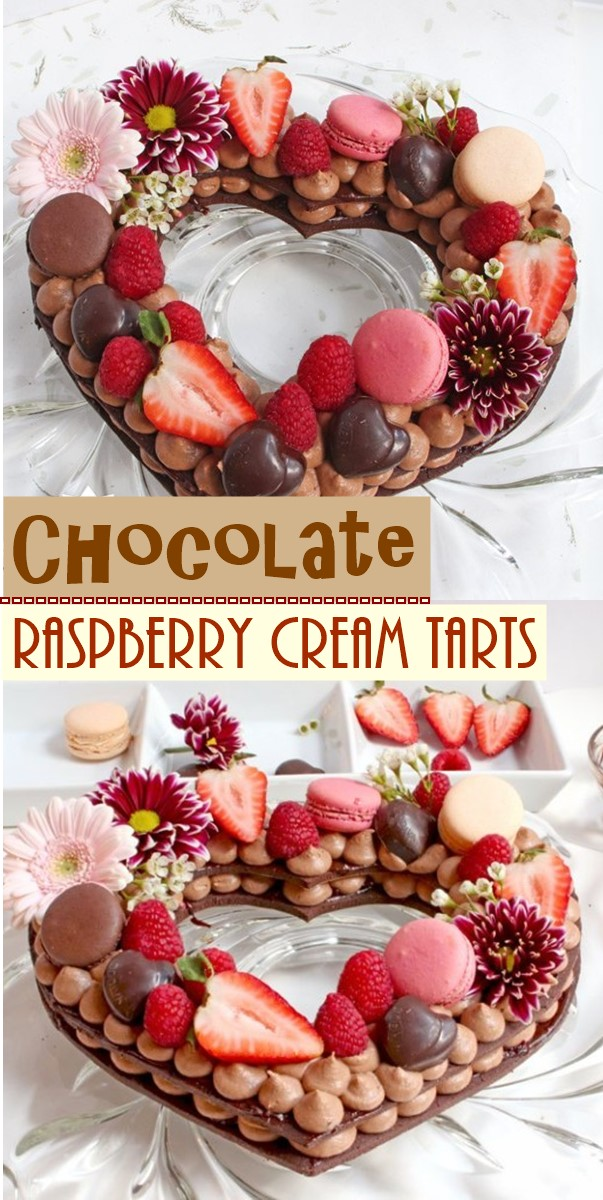 Chocolate Raspberry Cream Tarts #cakerecipes