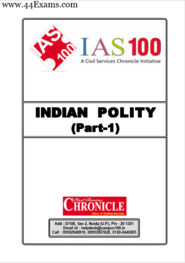 Indian-Polity-Part-I-and-II-by-Chronicle-IAS-Academy-For-UPSC-Exam-PDF-Book
