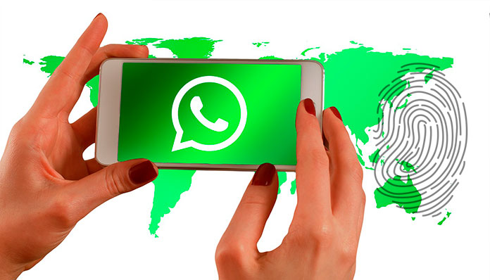 whatsapp huella digital