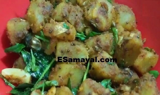 சர்க்கரை வள்ளிக் கிழங்கு பொரியல் செய்வது   Sweet potato Fry Recipe !