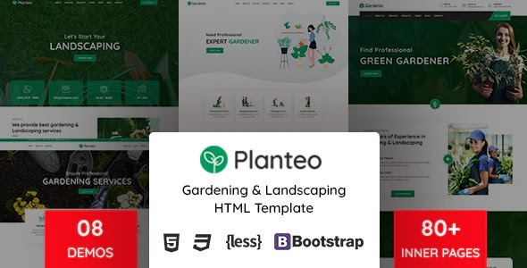 Gardening and Landscaping HTML5 Template