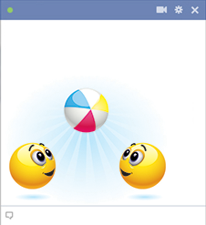Summer fun Facebook emoticons