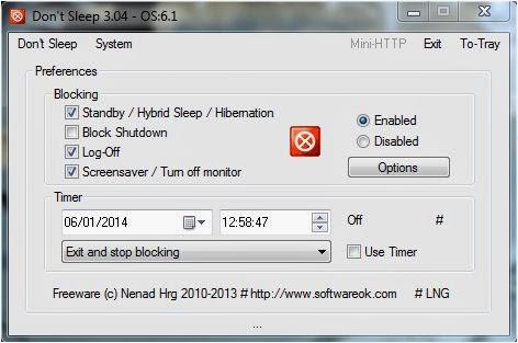 Cara mencegah pc kita sleep sendiri ketika melakukan proses download