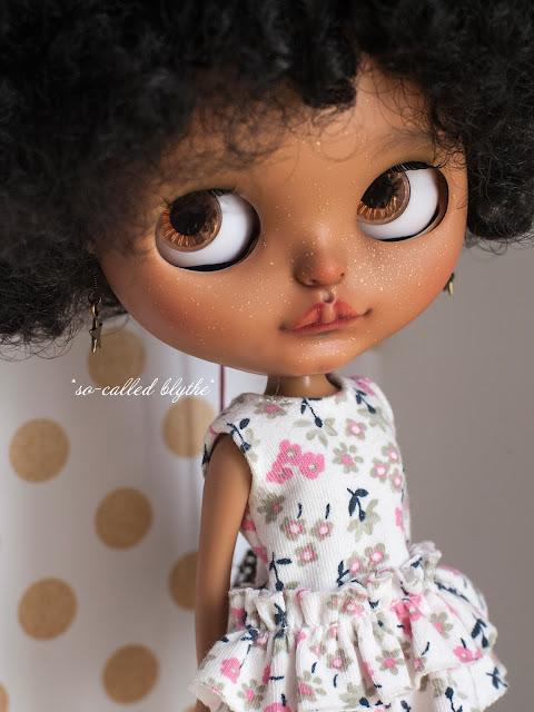 Kala OOAK custom doll brown eyes