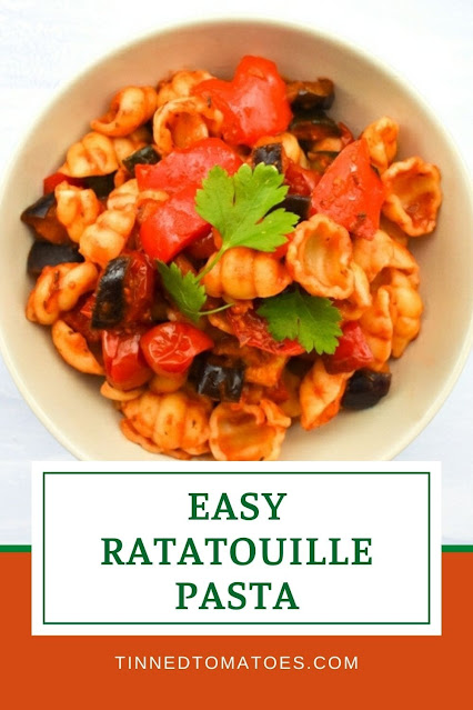 A rich ratatouille pasta sauce roasted in the oven with sweet little cherry tomatoes. The perfect vegetable-packed family dinner with no fuss.