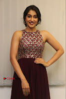 Actress Regina Candra Latest Stills in Maroon Long Dress at Saravanan Irukka Bayamaen Movie Success Meet .COM 0031.jpg