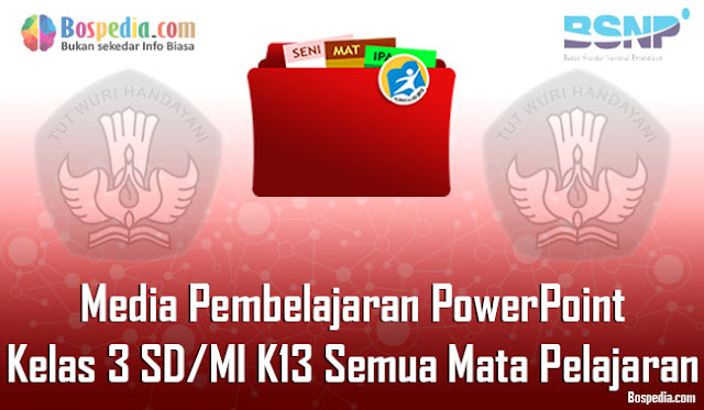 Media Pembelajaran PowerPoint Kelas 3 SD/MI K13 Semua Mata Pelajaran