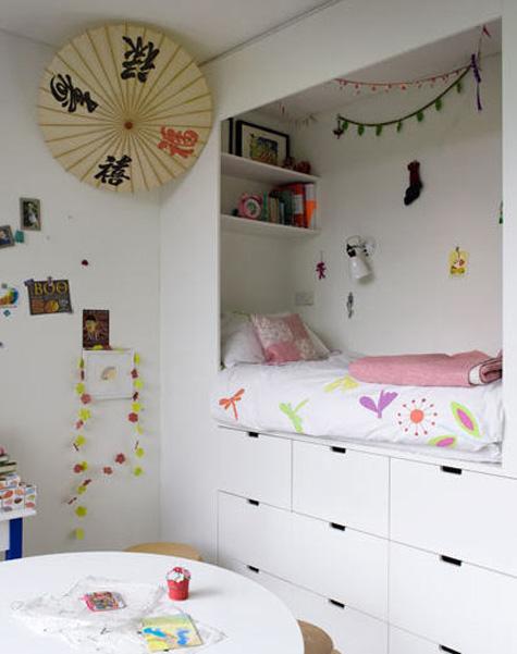 small attic room ideas - Hogares Frescos Hermosos Diseños de Camas para Alcobas