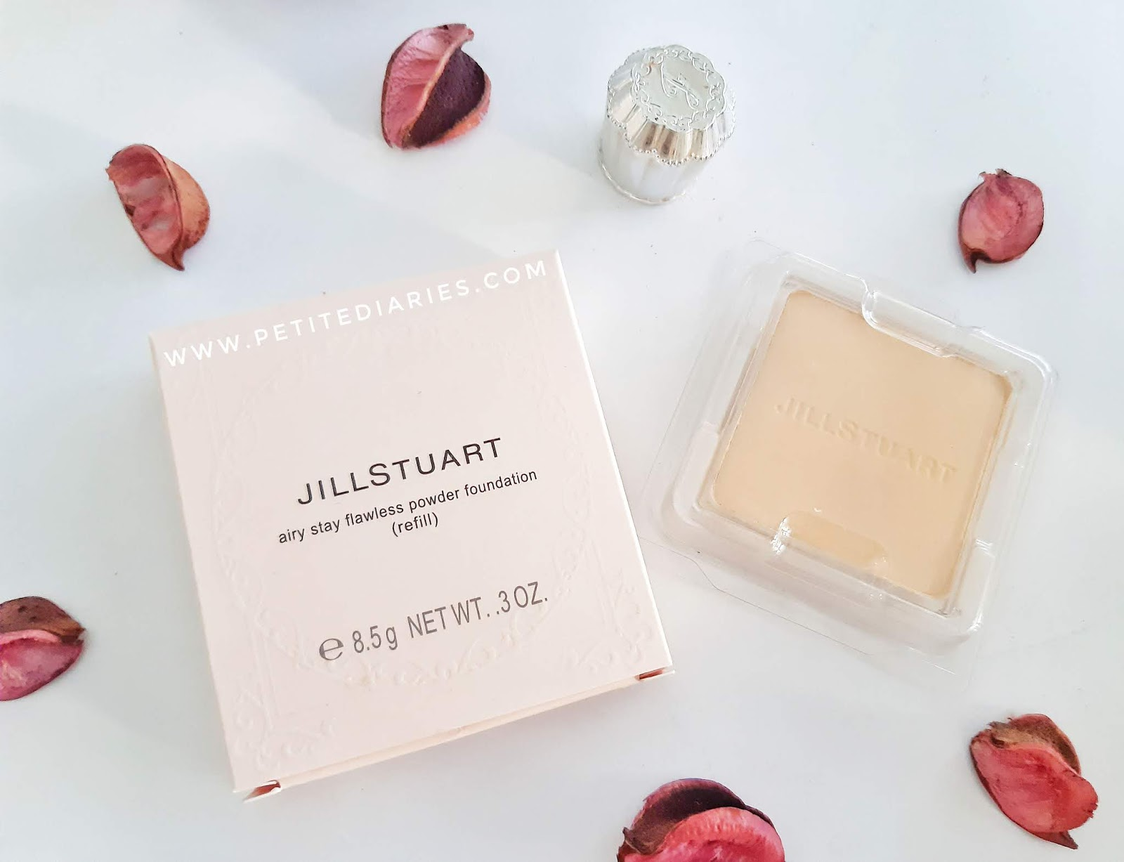 review jill stuart beauty airy stay flawless powder foundation