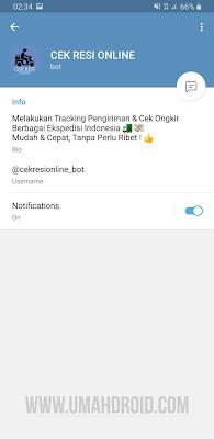 Bot Telegram Cek Resi Pengiriman