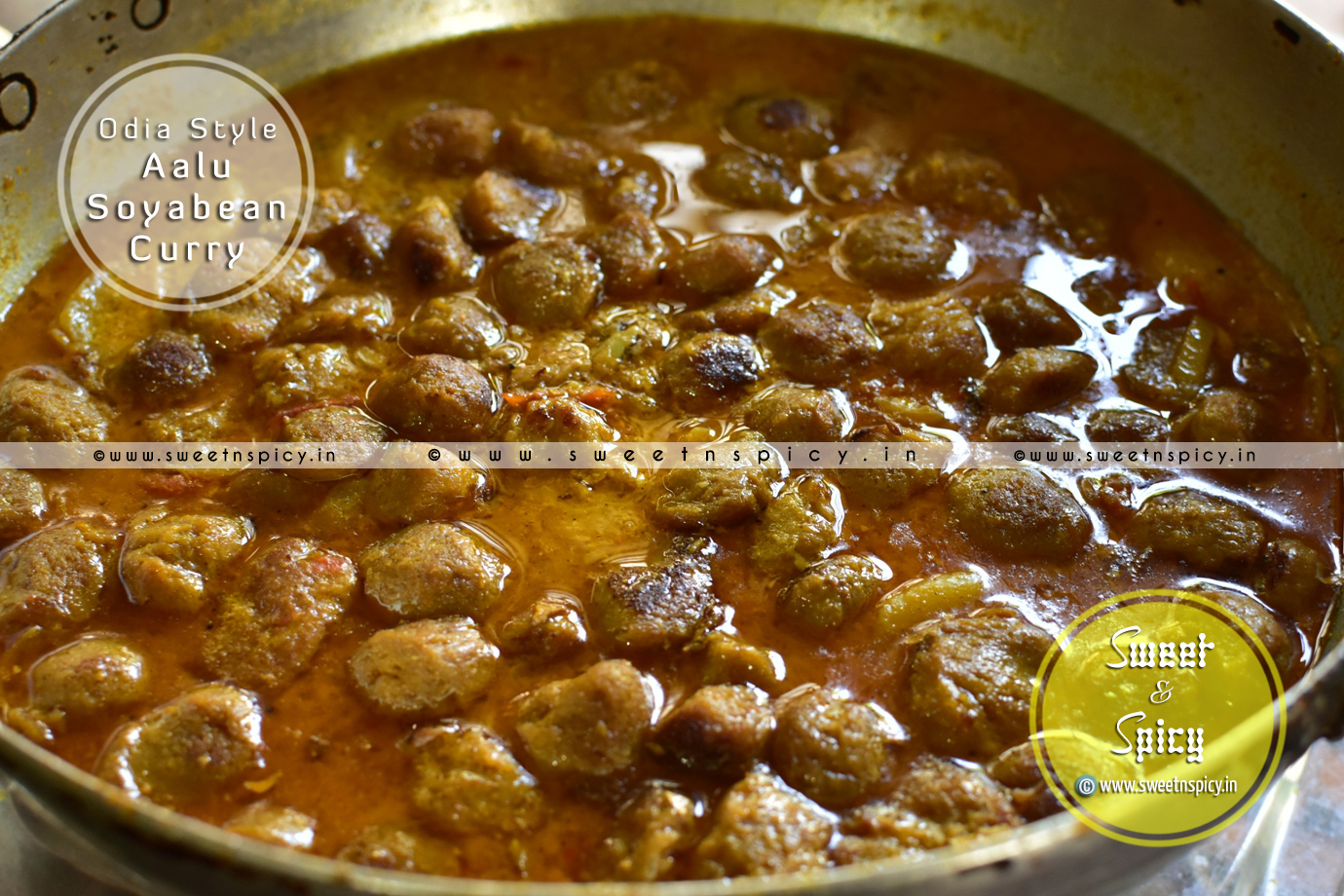 Odia Style Aalu Soyabean Curry (Mealmaker Tarkari)
