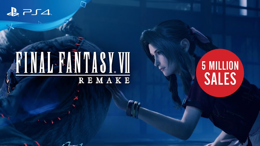 final fantasy 7 remake 5 million sales ps4 exclusive action role-playing game square enix covid 19 aerith gainsborough