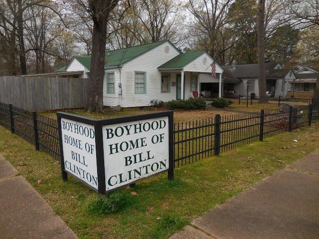 casa onde viveu Bill Clinton na sua infância, na cidadezinha de Hope, Arkansas