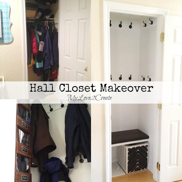 Hall Closet Makeover, MyLove2Create