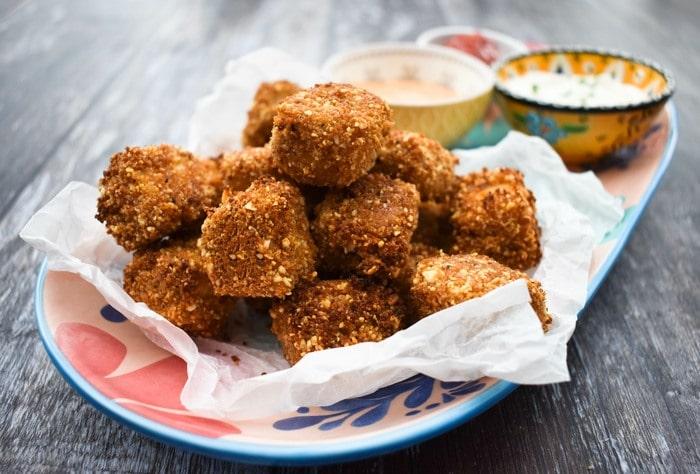 Baked Harissa Popcorn Tofu