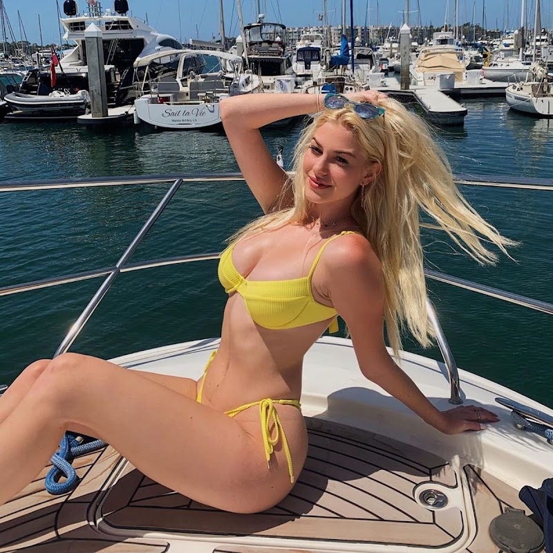 Jackie R. Jacobson  in a Yellow Bikini at a Boat – Instagram Photos 14 Jun -2020