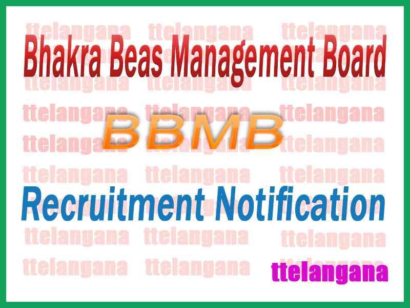Bhakra Beas Management Board BBMB Recruitment Notification