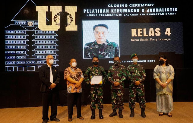 Berakhirnya Pelatihan Jurnalistik dan Kehumasan TNI AD Tahun 2021, Personel TNI AD Dapat Lebih Meningkatkan Kompetensi