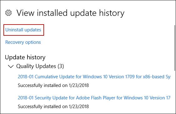 الشاشة الزرقاء ويندوز 10