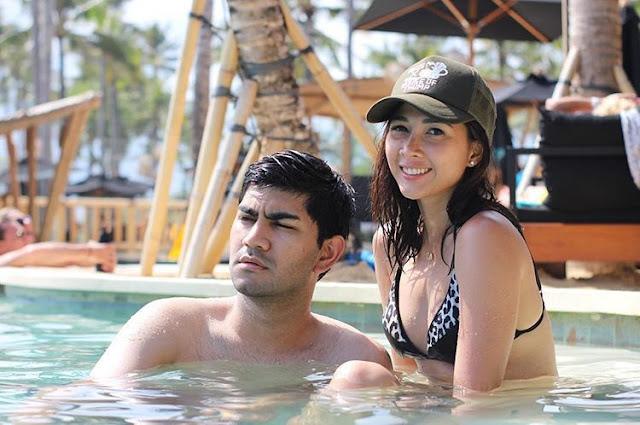 Foto Andrea Dian Pamer lagi mandi bersama