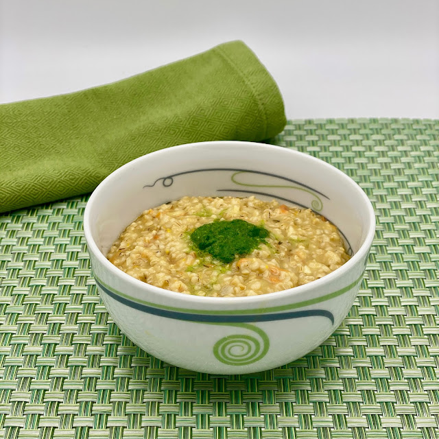 Irish Oatmeal Risotto Served Up in a Livliga bowl