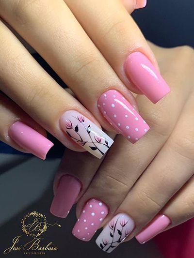 unhas decoradas rosa 5