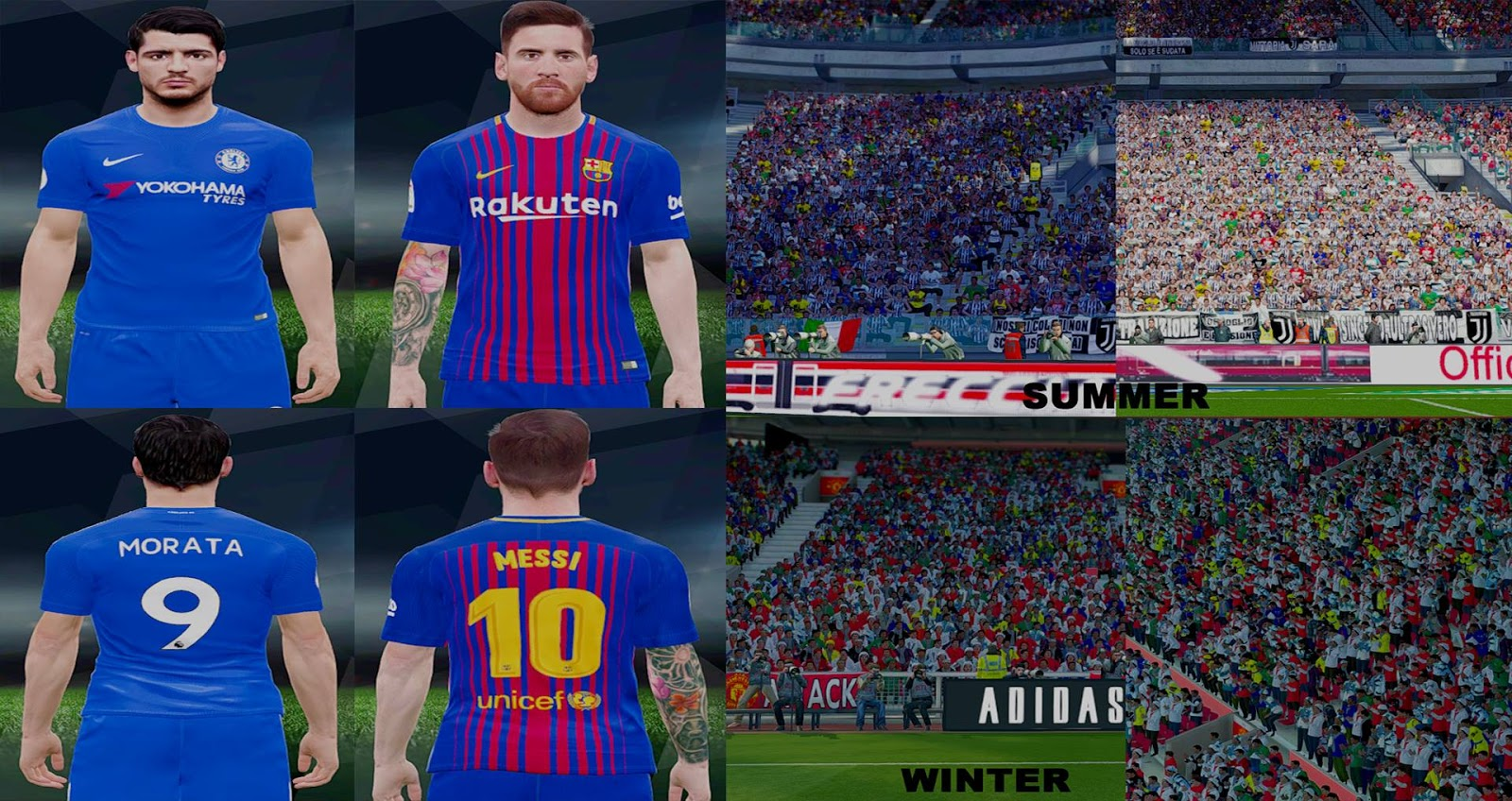 PES 2017 Crowd & Kits Texture by De_vo17